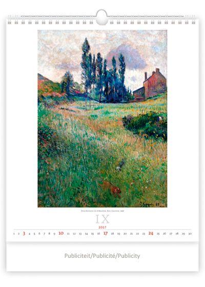Kunstkalender met reproducties van impressionistische schilderijen Internationaal   13 bladen - Engelstalig Formaat 45 cm x 59 cm Papier 190 g Wire-O