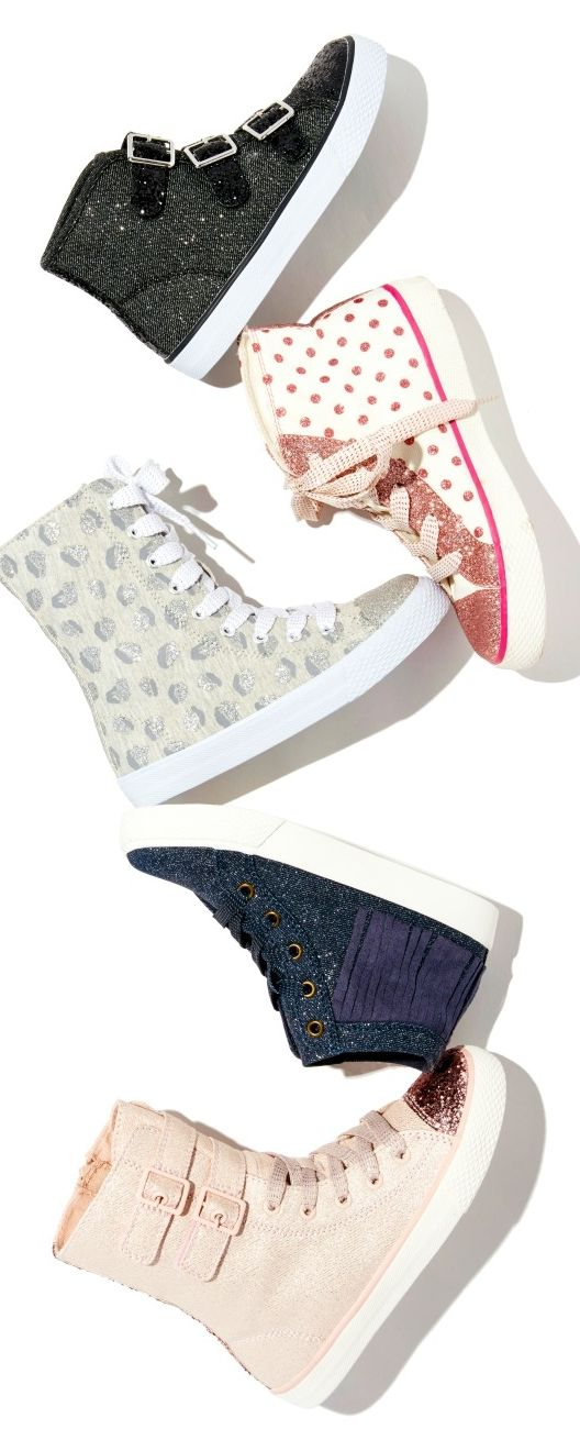 Girls' sneakers   Kids' fashion   Embellished hi-top sneakers   The Children's Place