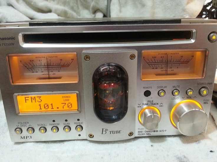 Rare Panasonic CQ-TX5500W Vacuum Tube CD mp3 Player AUX TOP RADIO AUTORADIO   eBay