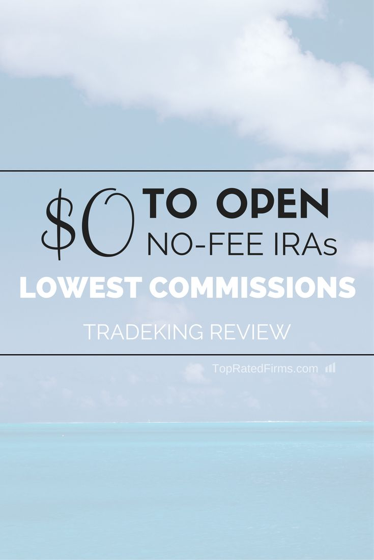 TradeKing, one of the largest discount brokerage in the United States, offer one of the lowest trading commissions and no-fee IRAs. http://topratedfirms.com/brokers/reviews/tradeking-review.aspx