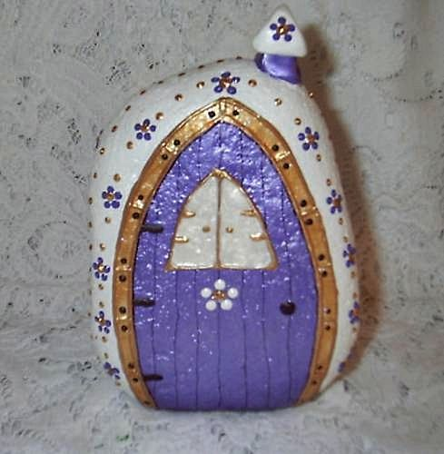 Fairy House Painted River Rock (front) | Flickr - Photo Sharing!