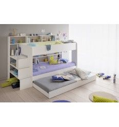 lit superpos chambre enfant coloris blanc avec tiroir lit gigogne pinterest lit superpos. Black Bedroom Furniture Sets. Home Design Ideas
