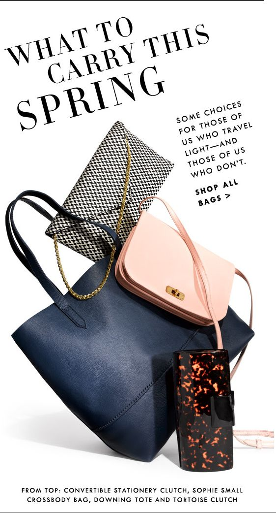 J.Crew Email Design / Newsletter Layout / Product Styling / Slanted Text!