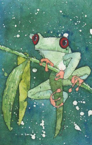 Batik ~ Frog on a limb