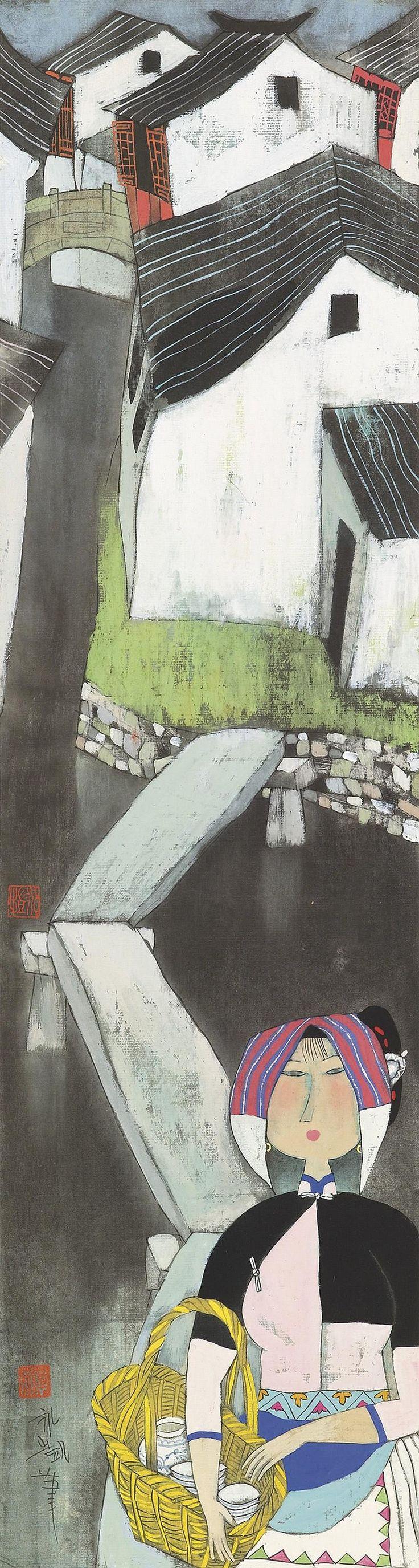 20paintings fishing jpg chinese peasant paintings pinterest - Yongkai Hu Works On Sale At Auction Biography