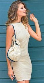 Просто и со вкусом: изящное платье с отделкой темно-синими шнурами в лучших традициях Коко Шанель. РАЗМЕРЫ 38 (40) 42 (44) ВАМ ПОТРЕБУЕТСЯ