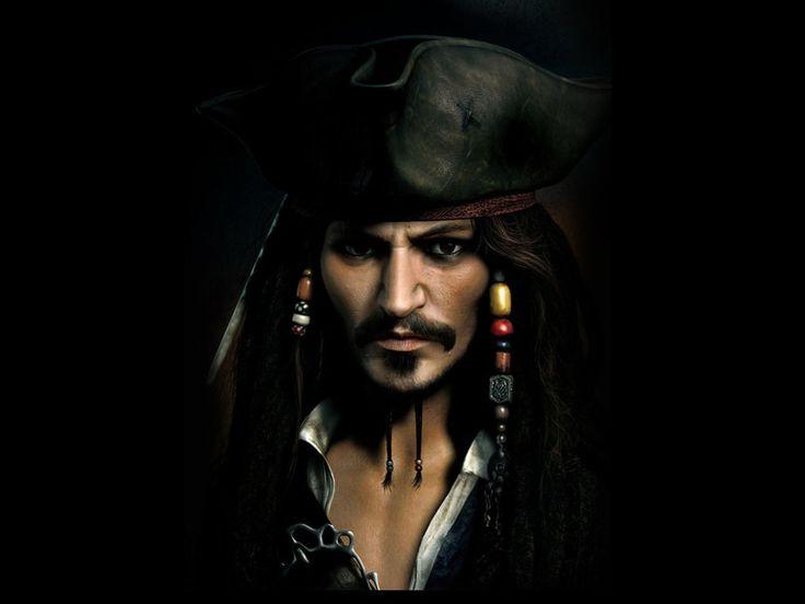 Kapitan jack sparrow, johnny depp, kapelusz wektor