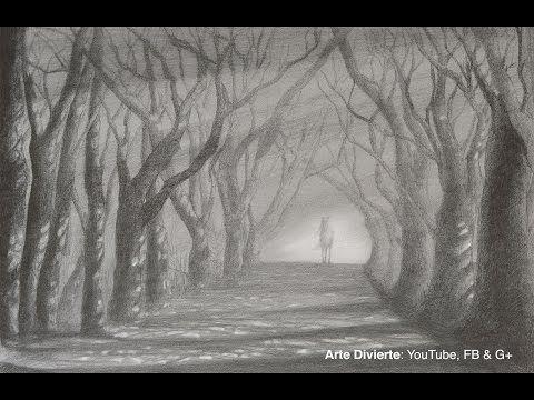 Cómo dibujar un bosque realista con pluma fuente- Arte divierte. - YouTube