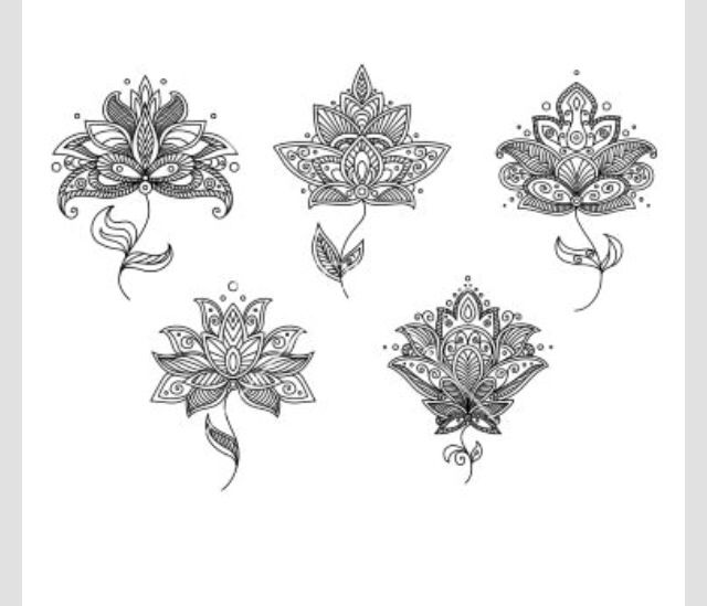 decorative lotuis flowers