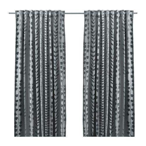 IKEA - GUNNI, Cort opac 1par, , Las gruesas cortinas filtran la luz y proporcionan intimidad, porque evitan que se vea el interior de la estancia.Protegen del frío en invierno y del calor en verano.Puedes colgar las cortinas de una barra o de un riel.Puedes colgar la cortina de una barra con trabillas ocultas o con argollas y ganchos.Pon ganchos RIKTIG en la cinta de la parte superior para crear pliegues.