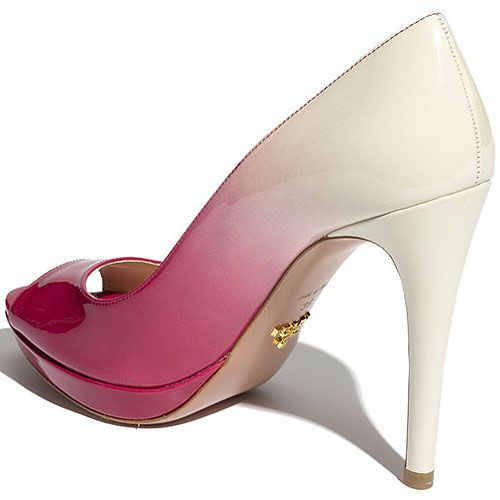 Hey (H)ombre! The Dip-Dyed, Dégradé Peep Toe Pump from Prada Your Next Shoes
