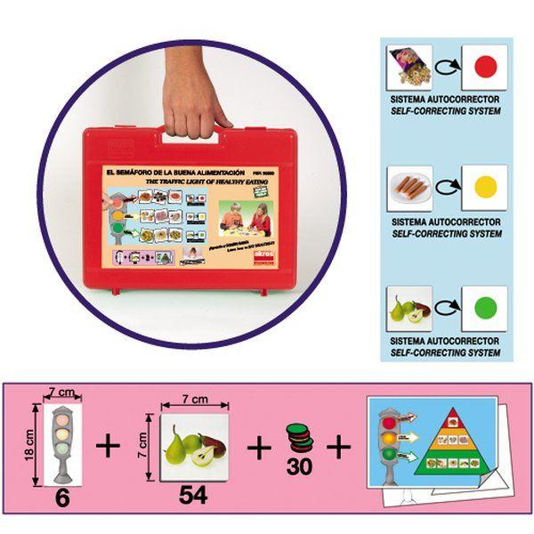 El semáforo de la buena alimentación, Juguete para niños con Alteraciones alimentarias, juguete adaptado para niños con Alteraciones alimentarias
