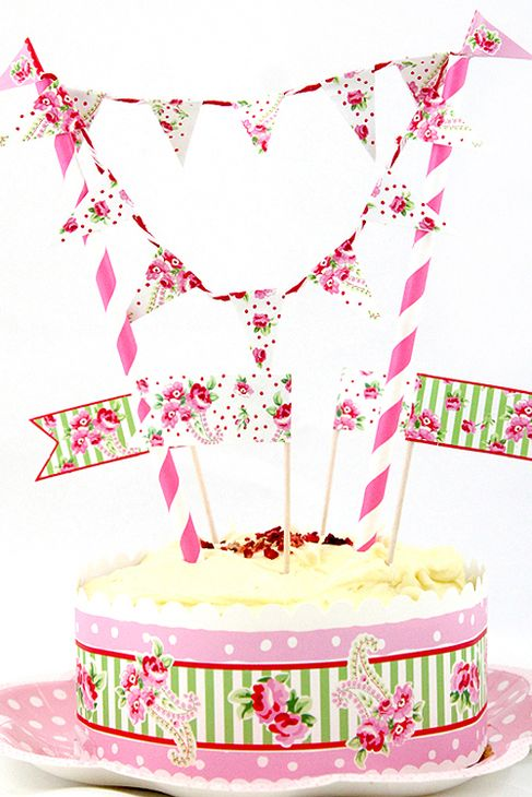 Rose Cake Bunting | The Little Things