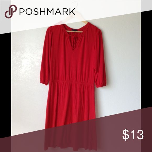 Gap Red Tunic Dress Size Large ✅In great condition ✅Comfy to wear ✅Price firm unless bundled  🌸Love more than one item?feel free to bundle & make an offer 🌸3 or more items get 20% less on checkout 🌸No trades 🌸No transactions off poshmark 😊Happy shopping in my closet GAP Dresses