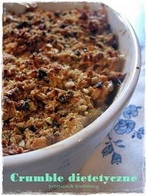 Przepiśnik kuchenny: Crumble dietetyczne. Rabarbarowo - bananowe.
