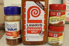 Fantastical Sharing of Recipes: Copycat Potato Ole Seasoning