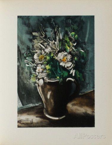 Fleurs au Pot de Gres, 1955 Láminas coleccionables