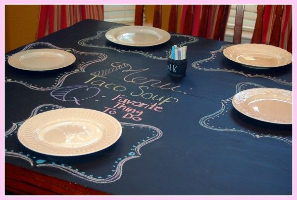 Get your family talking with a chalkboard table!