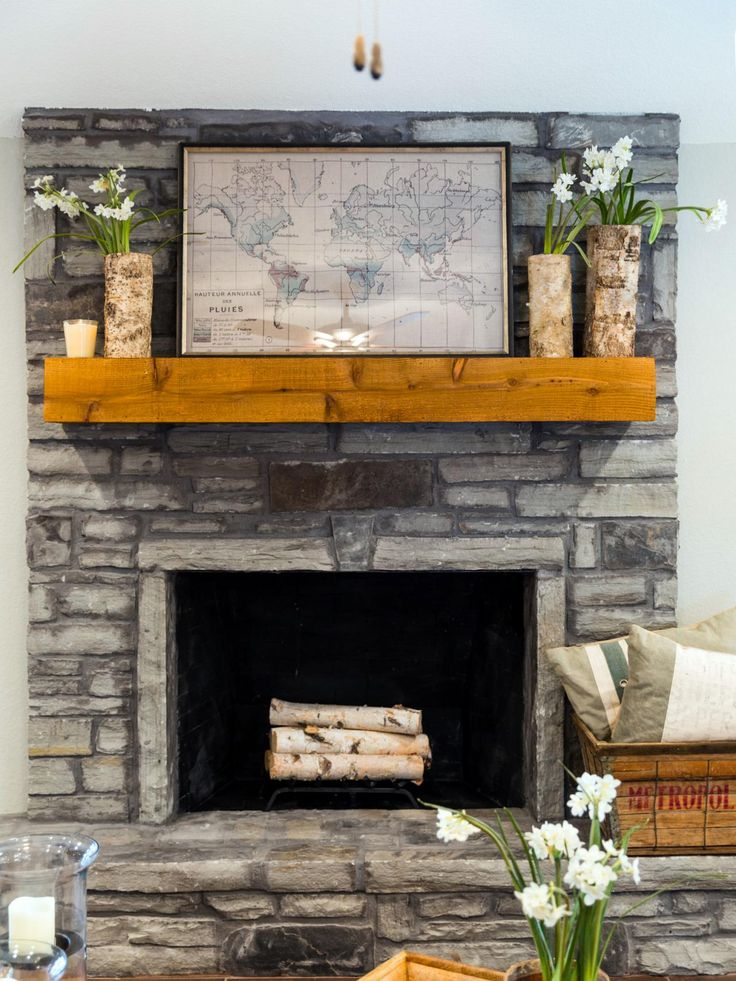 fixer upper in an older gets a fresh update stone fireplace mantelstone