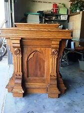 Custom Crafted Ornate Wooden Pulpit Pulpits Churches