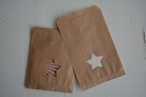 Kleine Kraft papieren zakjes met ster venster set van door SierGoed, €6.95