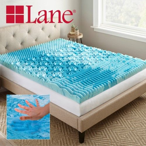 Contura 3 Inch Gellux Gel Infused Cooling Foam Mattress Topper