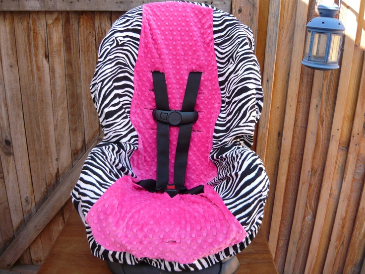 Zebra with Hot Pink Toddler Car Seat Cover by sewcuteinaz on Etsy, $40.00