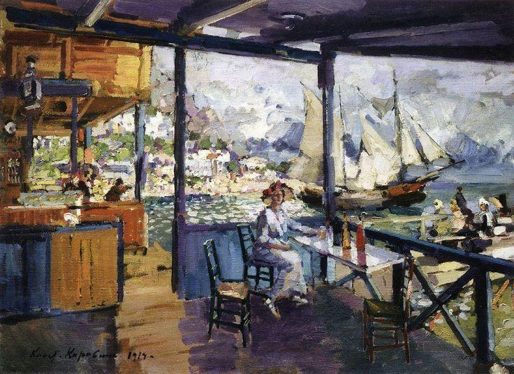 Константин Коровин. Пристань в Гурзуфе. 1914