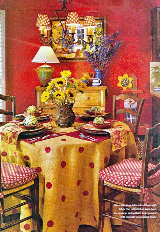 Cottage Dining Room Linen Tablecloth