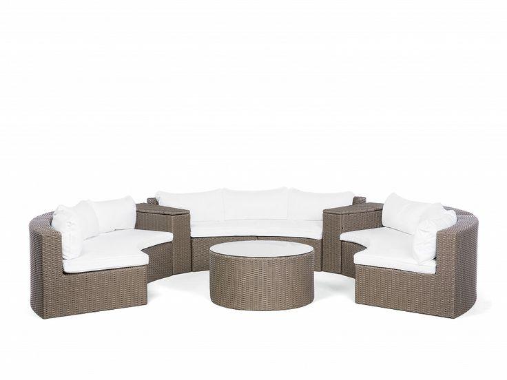 Light Brown Garden Sofa Set SEVERO for your #gardenparty.