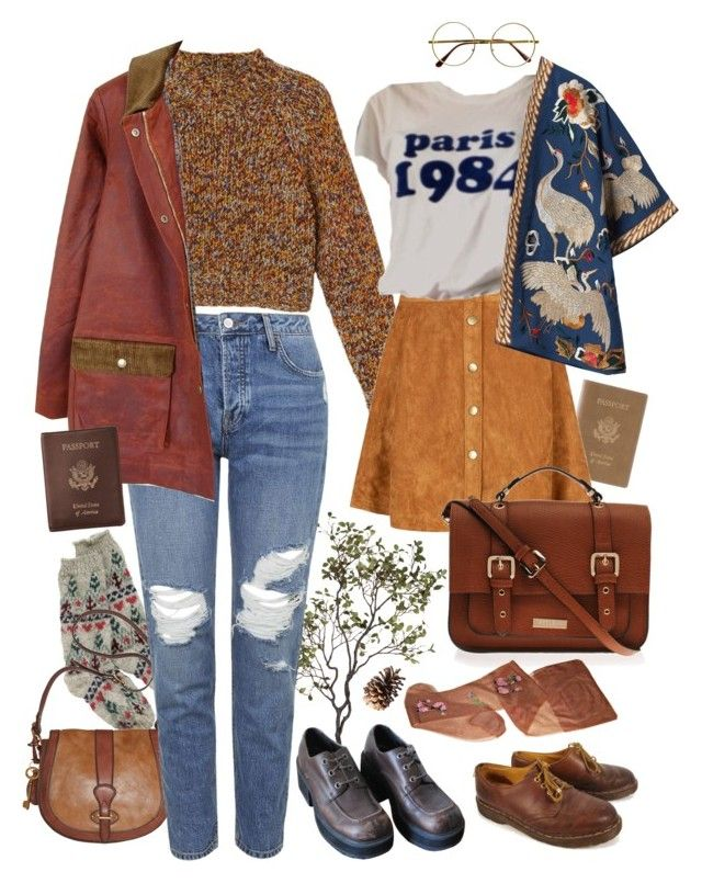 """let's go"" by paper-freckles ❤ liked on Polyvore featuring Royce Leather, Monki, Crate and Barrel, FOSSIL, Topshop, FrenchTrotters, Dr. Martens, Zara, Carvela Kurt Geiger and Retrò"