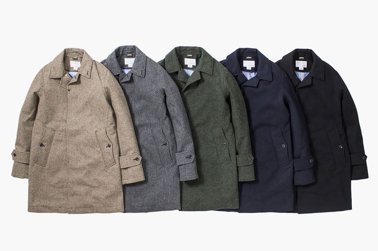 Nanamica Wool/Gore-Tex Coats An outstanding delivery from the Japanese brand, blending woolen fabrics with gore-tex linings for that waterproof effect, without compromising looks.