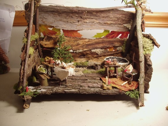 Celtic fairy winter solstice doll houses fairy houses for Irish fairy garden