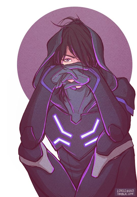 Keith in his Blade of Marmora armor and hood from Voltron Legendary Defender