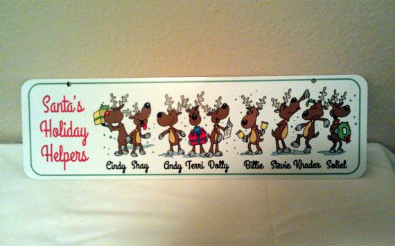 Santa's Helpers Reindeer Aluminum Christmas Holiday by LogoPrint