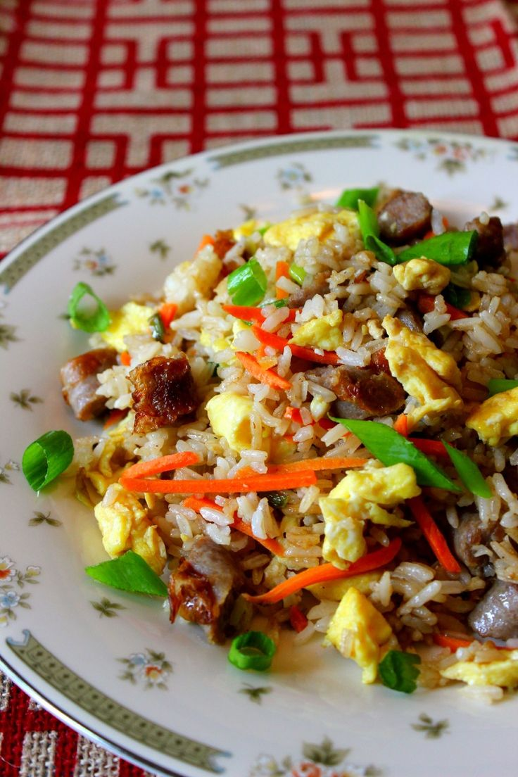 Breakfast Fried Rice with Johnsonville Sausage Links