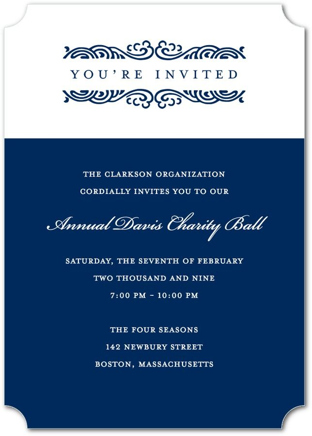 7 best Classy Corporate Invites images on Pinterest Events - invitation format for an event