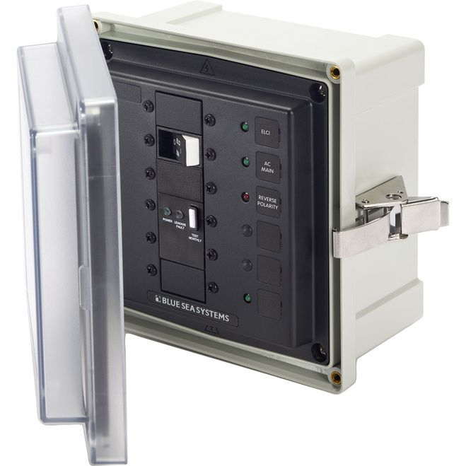 Blue Sea SMS Surface Mount System Panel Enclosure - 120/240V AC/50A ELCI Main - 1 Blank Circuit Position [3119]