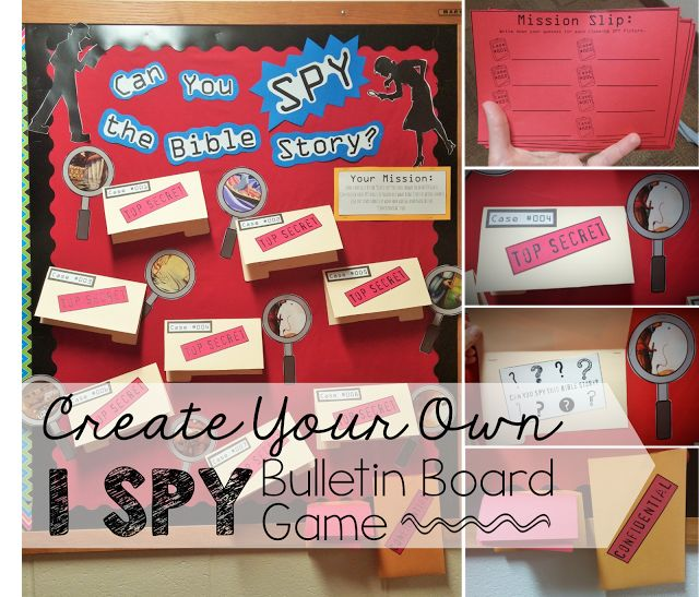 Classroom Interactive Ideas ~ I spy interactive bulletin board idea boards