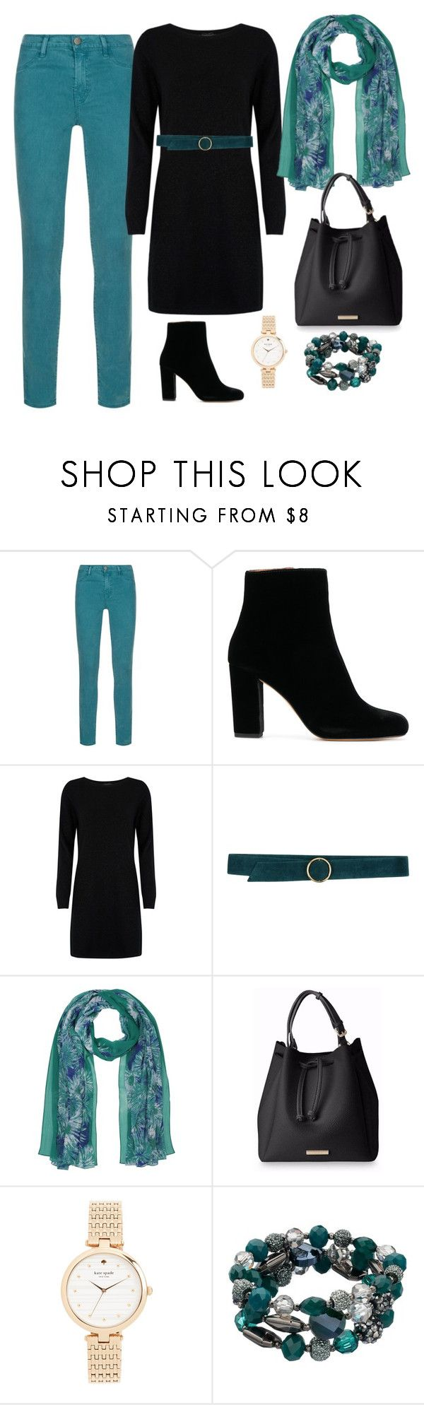 """""""friendsgiving"""" by maryamj70 on Polyvore featuring J Brand, Cocoa Cashmere, Carla G., M&Co and Kate Spade"""