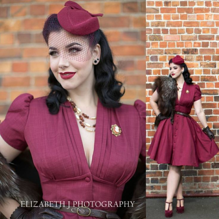 """Heart Of Haute on Instagram: """"Head over heels in LOVE with this photoset of @missvictoryviolet by @elizabethjphotographer Head on over to #MissVictoryViolet 's blog for a full review of the #HeartofHaute Manhattan Dress in Burgundy ❤ -Alisa"""""""