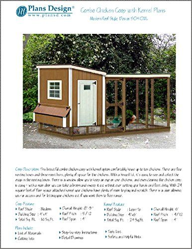 78 best images about chicken coop on pinterest modern for Dog kennel shed combo plans