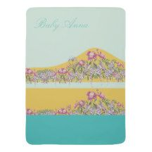 Perfect Modern Girly Design for Baby Girl Baby Blankets