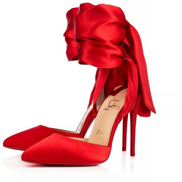 Douce Du Desert 100 Flamenco Crepe satin/Satin/Lurex - Women Shoes -... ($895) ❤ liked on Polyvore featuring shoes, crepes shoes, christian louboutin shoes, christian louboutin and satin shoes