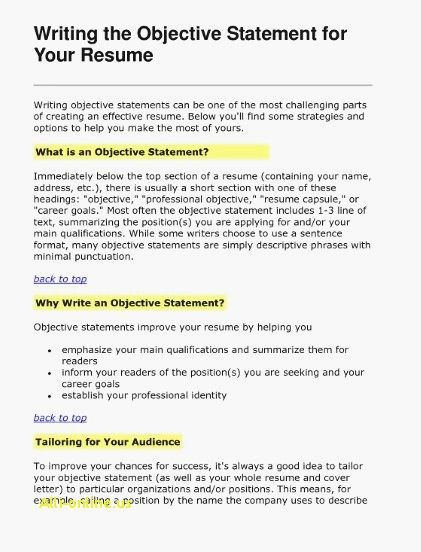 75 Elegant Photos Of Sample Resume Objective Statements for Human