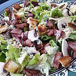 recette Salade de gesier de volaille sauce roquefort