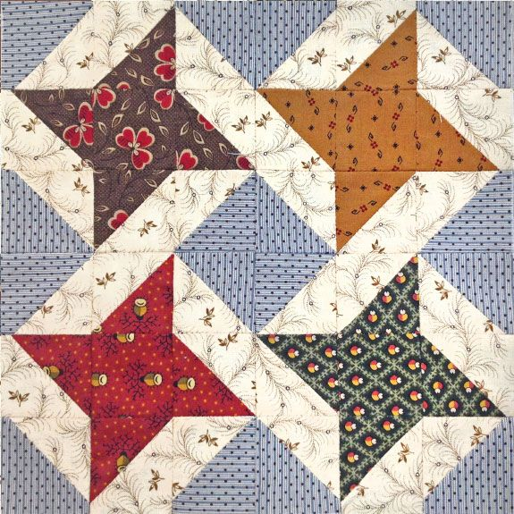 Continuous Friendship Star Quilt Block by Shar Jorgenson, from a workshop at the 2015 Sewing Expo