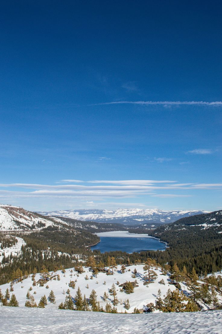 Lake tahoe sunset travel channel pinterest - The View Over Donner Lake One Of 30 Free Things To Do In Northern