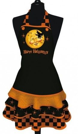 Happy Halloween Apron...Do your Halloween haunting in an apron!