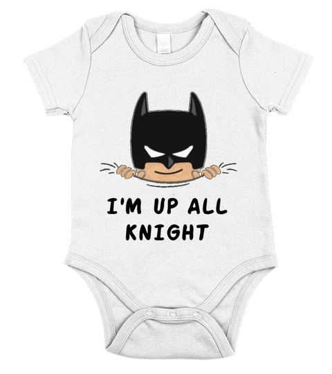 Up All Knight Onesie, Batman onesie, funny baby clothing, funny onesie From Teezily. It's a custom product made just for you by Teezily. :) <3 <3 With World class production and customer support, your satisfaction is guaranteed :) <3 <3 (y) Order here ➨ https://www.teezily.com/stores/pregnancy-store